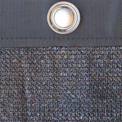 Windbreekgaas Economy Line zwart met polyester band en zeilogen