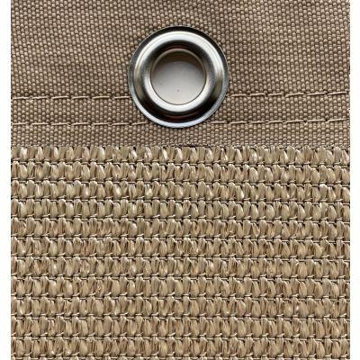 Windbreekgaas Pro Line zandkleurig met polyester band en zeilogen
